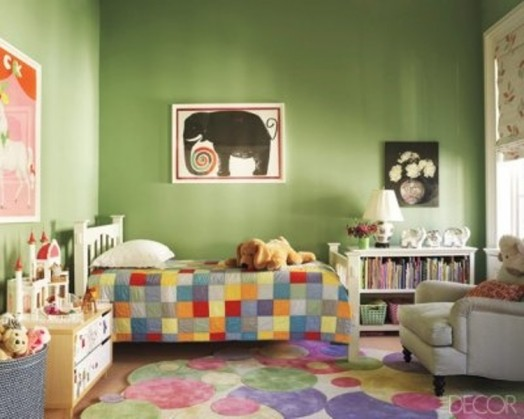 grüne kinderzimmer interieurs idee frohe