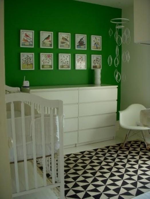 Kinderzimmermöbel weiß grün  Kinderzimmer » Farbgestaltung Kinderzimmer Grün - Tausende ...