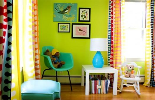 grell idee design grüne Kinderzimmer Interieurs