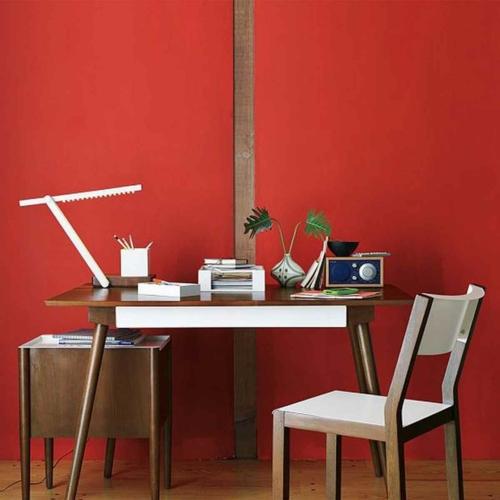 häusliches arbeitszimmer idee holz möbel design elemente weiß braun