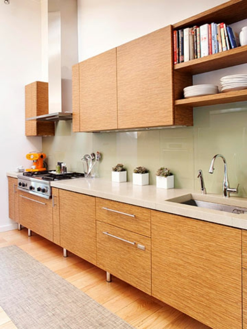 hölzern textur Ihre kleine Küche schmal kompakt klein praktisch tipps