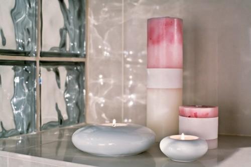 harmonieremnde einrichtung badezimmer ideenn stilvolle teelichter