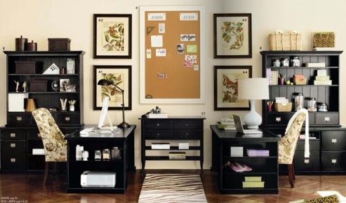 heimbüro idee klassisch modern kombiniert tendenz
