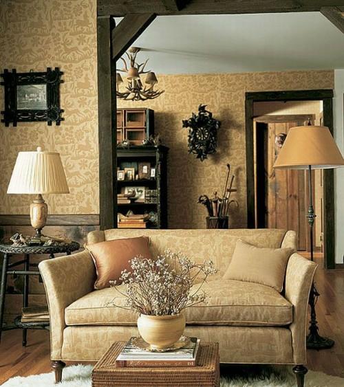 hell braun beige sofa kissen blumentopf blumen künstlich französisch idee