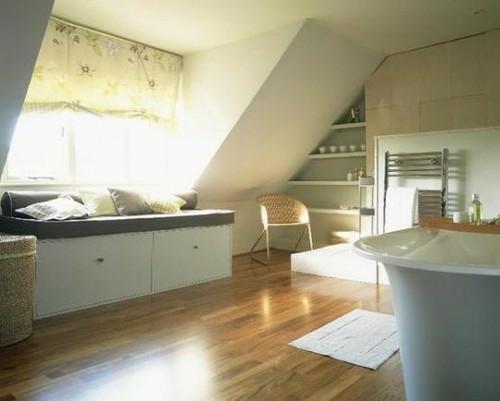 Dekoideen moderne bäder vorschläge : Badezimmer im Dachgeschoss - 21 ...