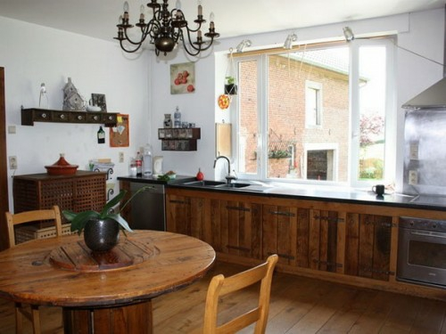 holz küchen möbel idee französisch design