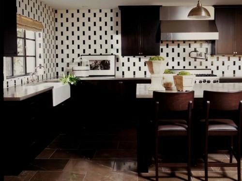 holz keramik kreative Küchenspiegel Ideen design küchenspiegel