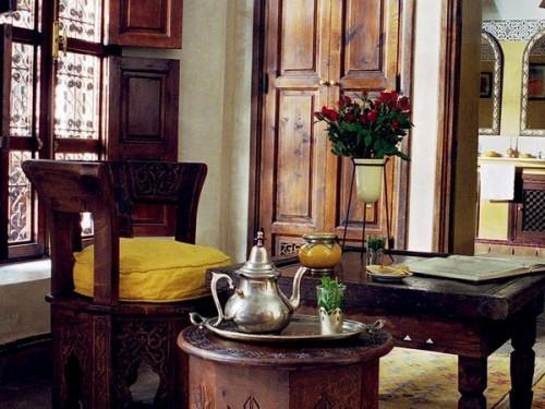 holz möbel design gelb kaffeetisch orient idee