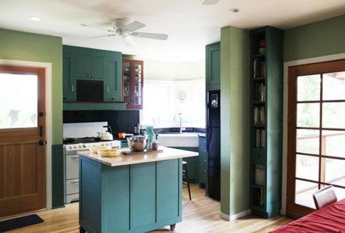 idee küche design bunt ausstattung kleine kompakte möbel