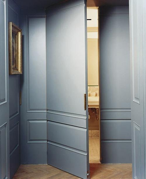 interessante geheimtüren hause wohnung grau farbe wand