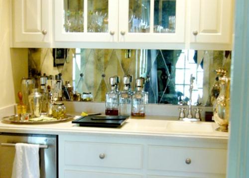 küche deko spiegel küchenspiegel idee design