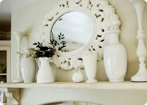 küche kaminsims spiegel weiß farbe dominierend