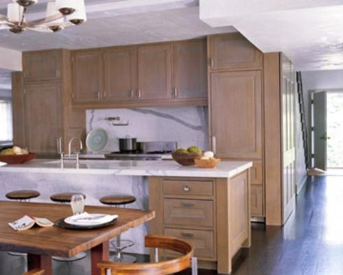 küchen grundrisse hölzern idee hell praktisch kompakt