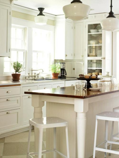 küchen grundrisse hölzern weiß kücheninsel idee kompakt praktisch