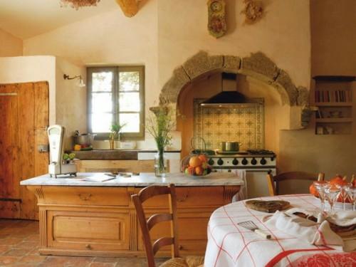 küchen interieurs mit französischen deko elementen holz