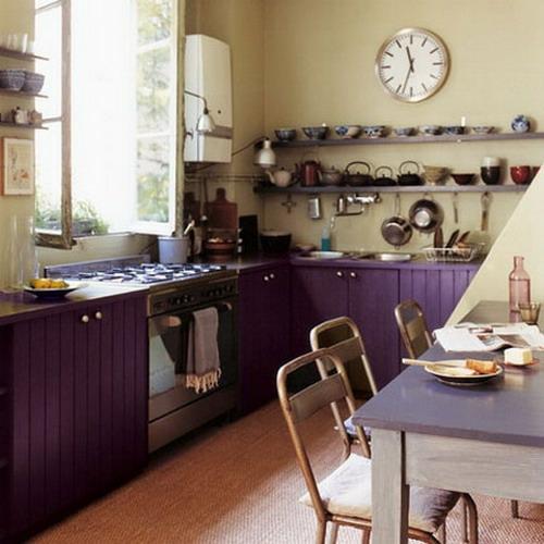 französische dekoration küche idee lila