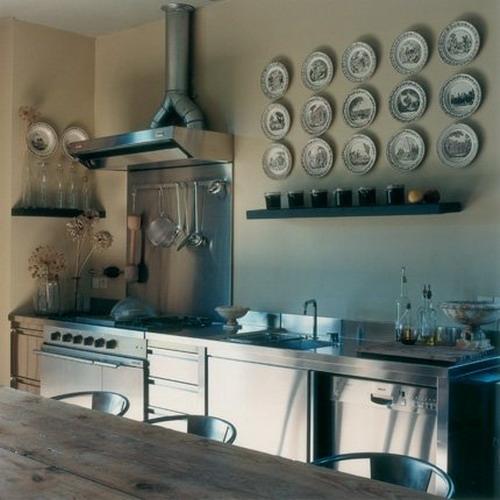französische dekoration küche idee design wandteller