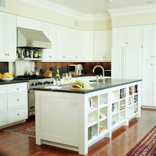 Küchen Grundrisse weiß möblierung praktisch idee