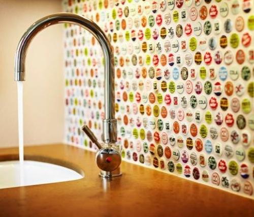 küchenrückwand ideen bunt interessant praktisch spülbecken