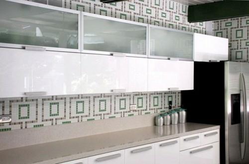 kreative Küchenspiegel Ideen mosaik idee design küchenbereich