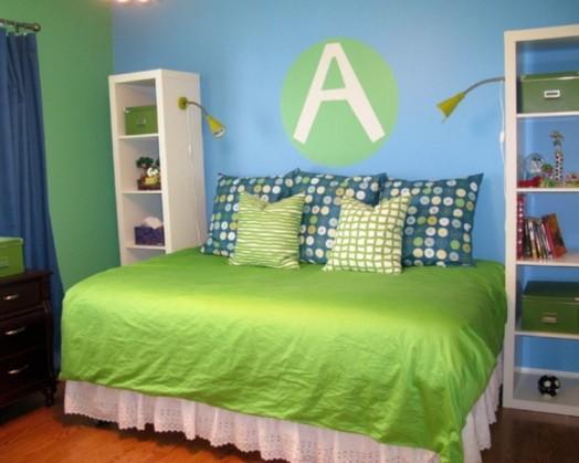 design idee farbe grüne Kinderzimmer Interieurs