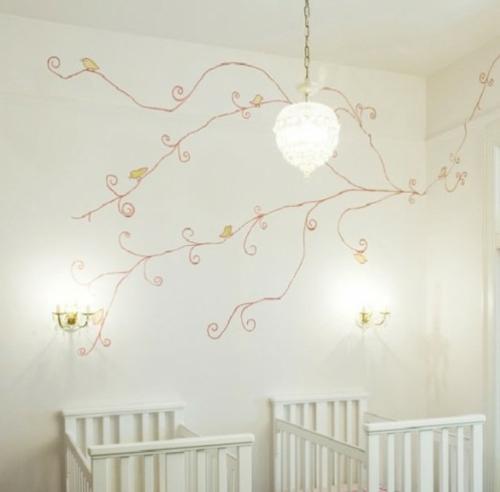 12 herrliche babyzimmer design ideen f r zwillinge oder - Wandmuster ideen ...