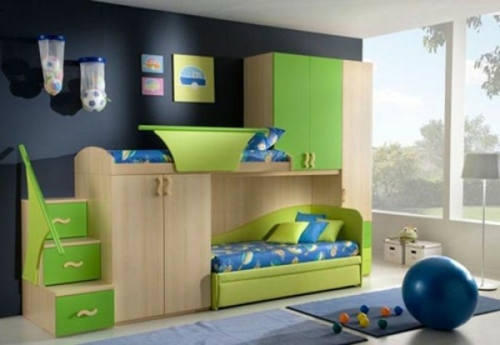 herrliches kinderzimmer design f r zwei und mehr kinder. Black Bedroom Furniture Sets. Home Design Ideas
