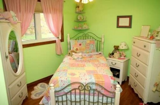 Kinderzimmer wand ideen mädchen  Grüne Kinderzimmer Interieurs - 20 Ideen, die inspirierend wirken