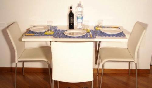 klapptisch idee küche originell kompakt elegant