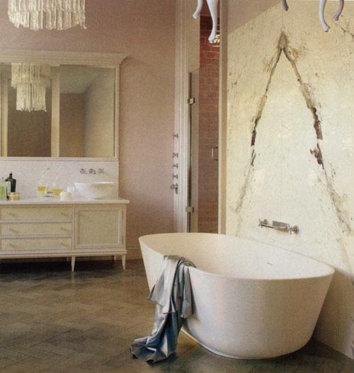 Klassisch Badezimmer Fliesenspiegel Badewanne Interieur