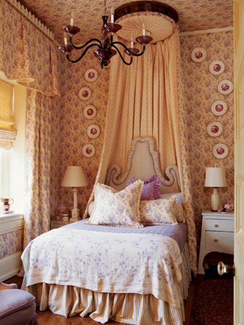 klassisch interieur himmelbett schlafzimmer idee
