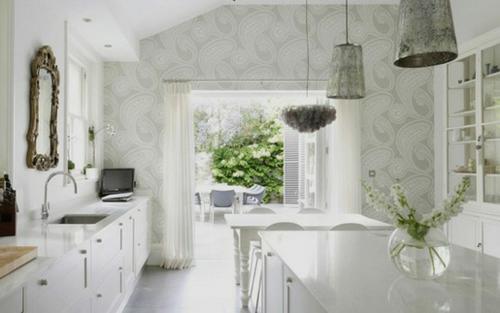 klassisch spiegel küche originell weiß ausstattung