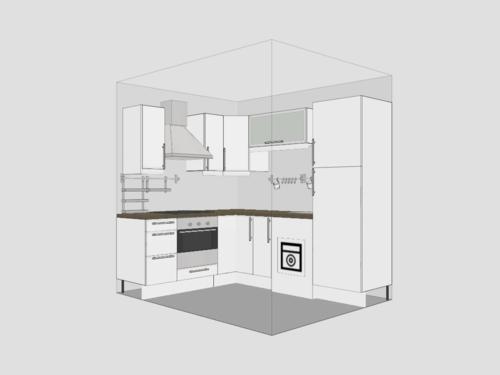 kleine küche entwurf design idee kompakt