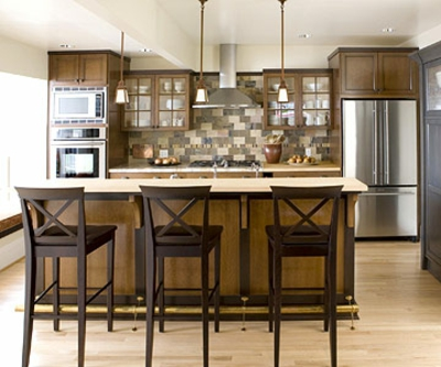 schmale Küchen Interieurs craftsman küchenstühle kücheninsel schränke