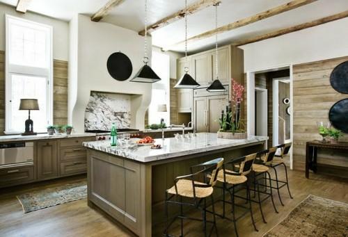 kompakt küchenblock essecke tisch stuhl kreative Küchenspiegel Ideen
