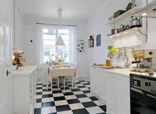 kompakt kleine weiße küche design idee