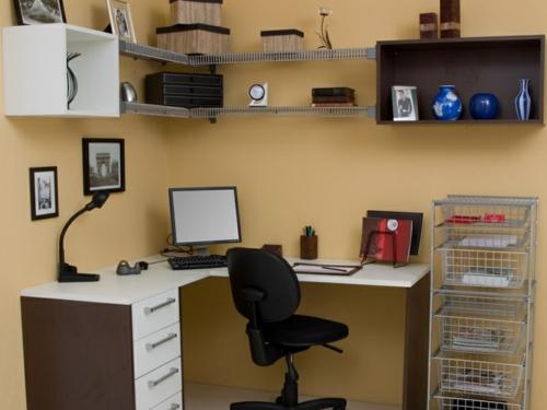 kompakt schlicht heimbüro idee modern