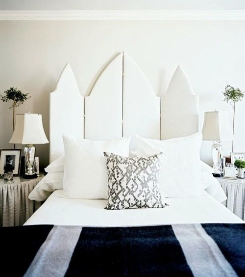 kopfteil im schlafzimmer trennwand weiß