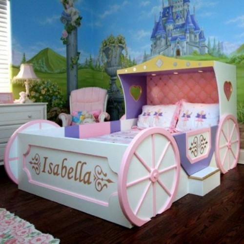 Kinderbett selber bauen mädchen  Kutschenbett im Kinderzimmer - 14 coole Ideen für schicke Ausstattung