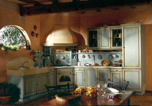 landhauskuche aus massivholz stil rustikal design idee