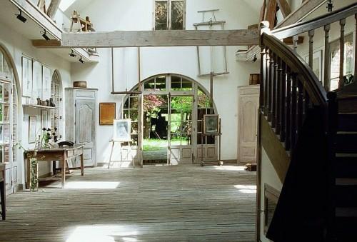 leer raum garten hinterhof alt antik französisch rustikal design