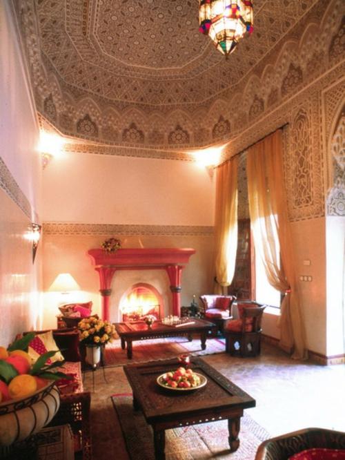 22 marokkanische wohnzimmer deko ideen-einrichtungsstil aus dem orient, Innenarchitektur ideen