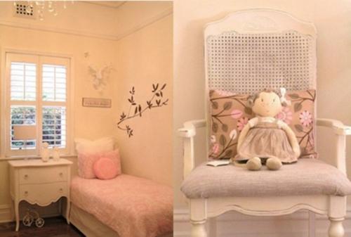 mädchen schlafzimmer im shabby-chic-stil