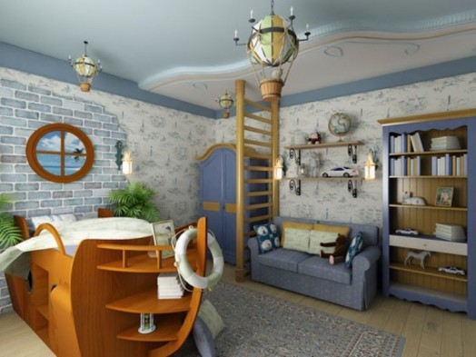 Gitterbett in Schiff Form   coole Einrichtung des Babyzimmers