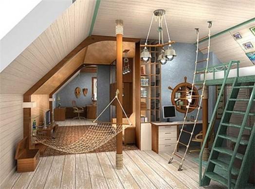 marine zimmer interieur ausstattung dachzimmer
