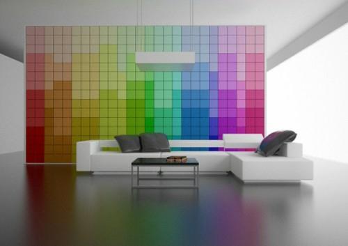 15 Ideen für exklusive Wanddekoration mit Quadraten