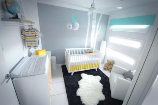 Modernes Kinderzimmer Interieur Kleidungschienen Idee