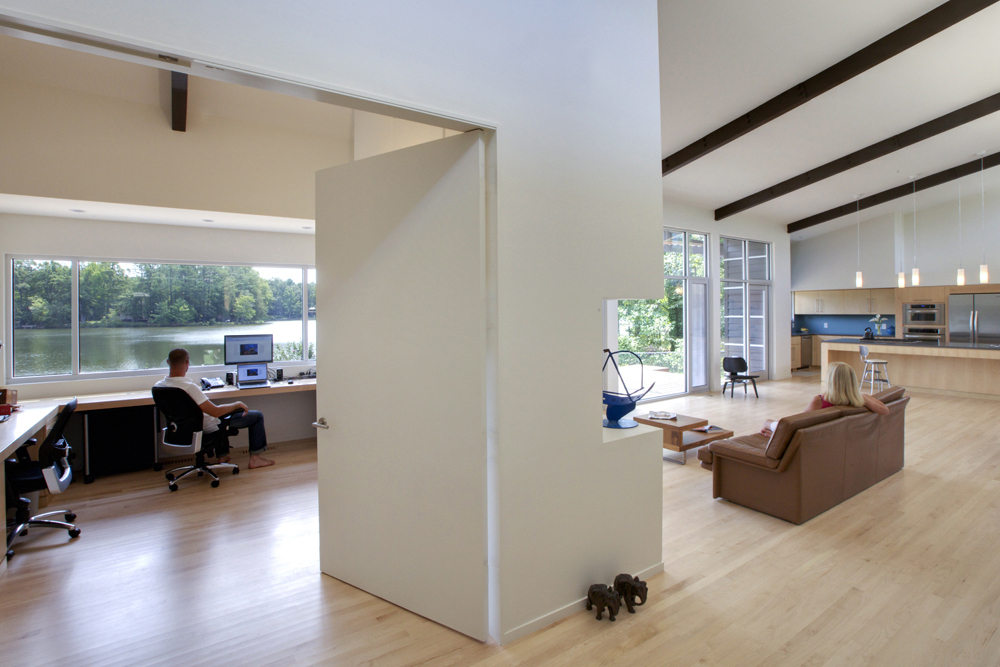 musterzimmer minimalistisch design idee wohnbereich