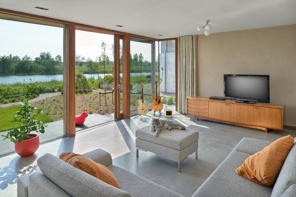 natur glaswand idee design modern wohnbereich