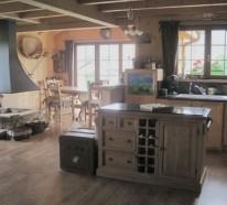 Küchen Interieurs mit französischen Deko Elementen - 25 Ideen